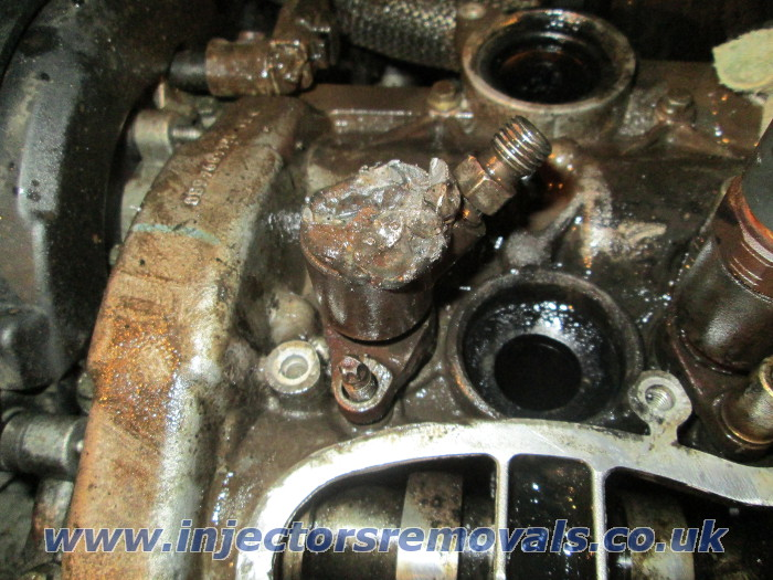 Broken and welded injector removed by us