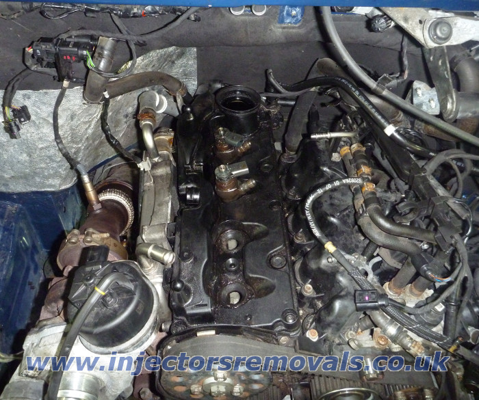 Injectors removal from Volkswagen Crafter with
