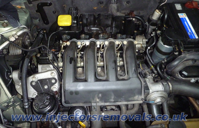 Injector removal from Rover 75 with 2.0 CDTi