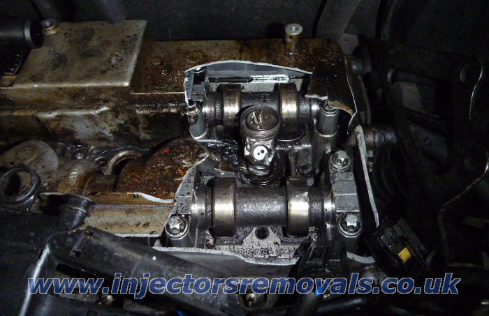 Broken injector removed by us