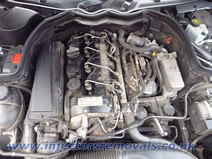 Injector removal from Mercedes W204 with 2.0 and
