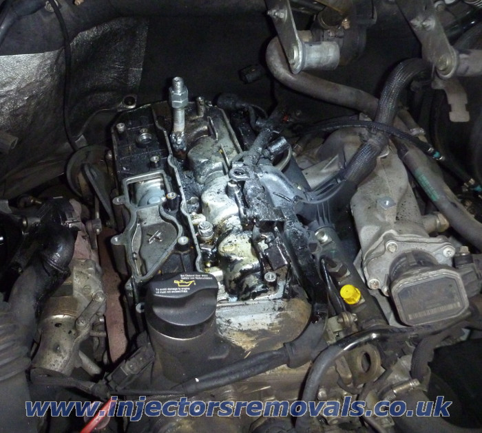 Broken injector removed by us from Mercedes